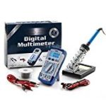 Digital Multimeter Kit – Multimeter & Soldering Iron 30W & Soldering Iron Stand & Solder Wire (50g 1mm,9M) & Two Alligator Clips =====> 5 Products In a Great Kit!!!