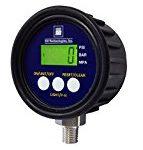 SSI MG1-9V Series Media Gauge Digital Pressure Gauge Sensor with LCD Display, 5000psig Operating Pressure, 9V, +/- 1% Accuracy, 1/4-18″ NPT Male Process Connector Type