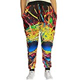 Lemonworld Christmas Men/Women Unisex 3D Printed Digital Pants Casual Gym Sports Jogger Pants With Drawstring Galaxy Graphric Baggy Sweatpants For Halloween Costume Party (XXL, 8)